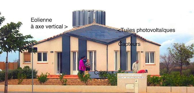 Maisons bioclimatiques et cologiques aujourd 39 hui et for Eolienne maison individuelle